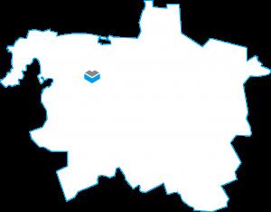 Darstellung einer Karte von Hannover mit dem Projekt Voltmerstraße der Cube Life