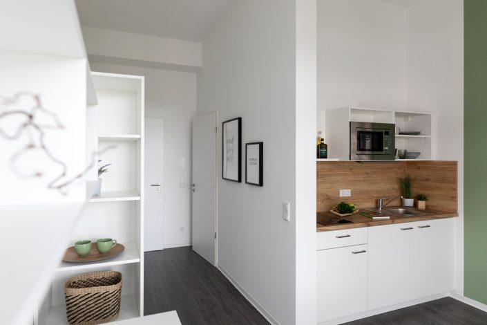 Innenansicht eines Apartments im Barton Living der Cube Real Estate