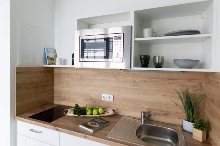 Küchenzeile in einem Apartment im Barton Living der Cube Real Estate