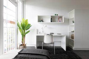 Wohnbereich in einem Apartment im Barton Living der Cube Real Estate